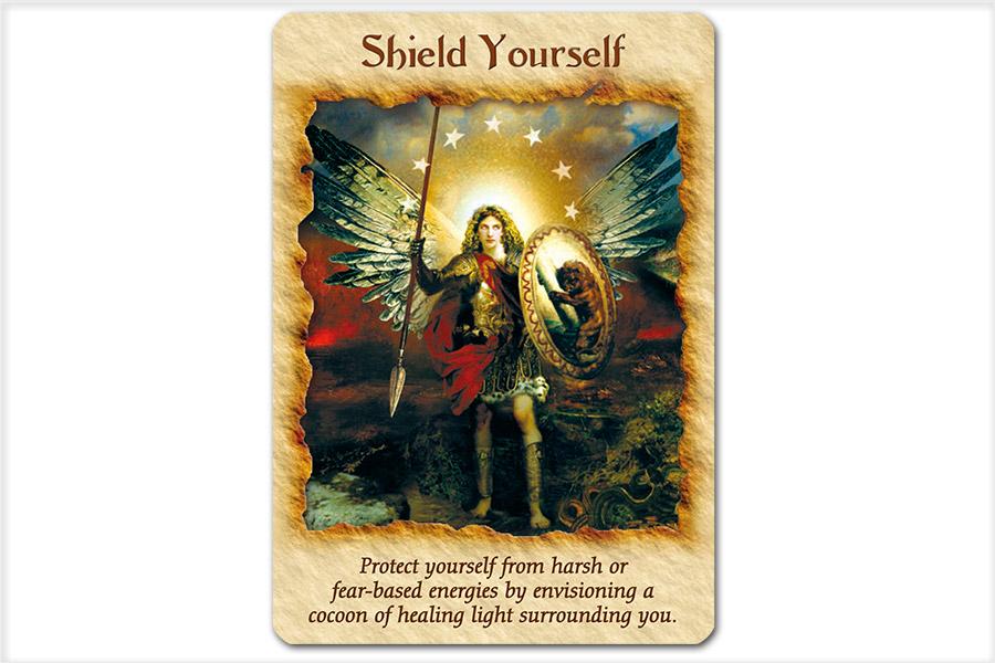 『エンジェルセラピー(R)オラクルカード』より「Shield Yourself」